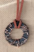 Ocean Deep Circle Pendant by EveryHeartCrafts