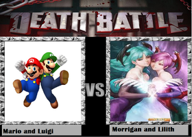 Death Battle: Mario Bros vs. Morrigan and Lilith by kart42