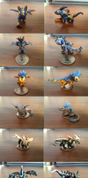 Tiny Chibi Dragon Sculptures by Neffertity