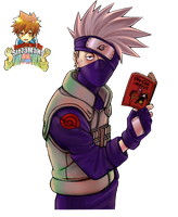 Kakashi With His Book Render by Sir7aMaNy