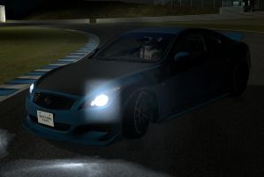 Nissan Skyline coupe drift at Night2 by NightmareRacer85