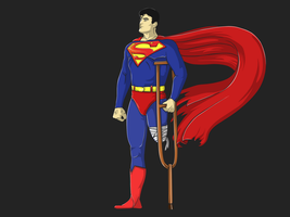 Superman can't walk by mad3