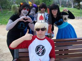 Homestuck cosplay bucket on the head by NaryaBlackfyre