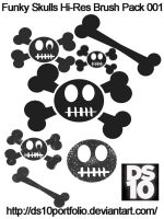 Funky Skulls Hi-Res Brush Pack by DS10Portfolio