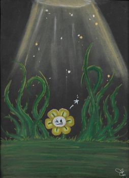 Flowey the flower by x3KHloverx3