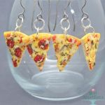 Realistic Pizza Slice Hanging Earrings by Bon-AppetEats