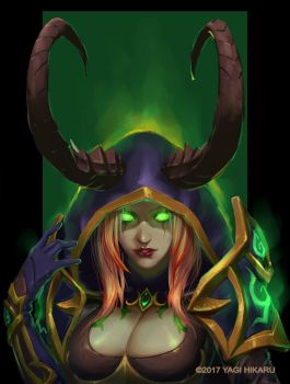 Demon Hunter Blood Elf [COMMISSIONS OPEN] by yagihikaru