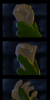 Hands at night by Sherenelle