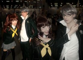 AWA 2012: Rise and Narukami from Persona 4 by DaisyPhantom