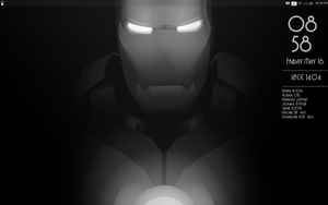 Deco Iron Man Conky. Made for Conky Manager by speedracker