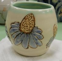 Cone Flower Pot by Stormphyre