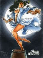 Ame-No Uzume Classic Mythology Sketch Card by RichardCox