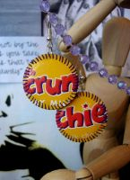 Crunchie Bar Earrings by elleira5jewellery