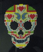 Mexican Sugar Skull by siths-stitches
