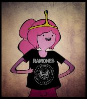 Princess Bubblegum and RAMONES shirt by KellCandido