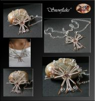 Snowflake- necklace by mea00
