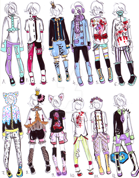-CLOSED- Pastel goth male clothes by Guppie-Vibes