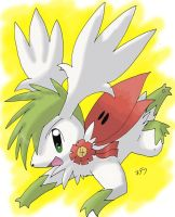 4th Fav PKMN-Shaymin Sky Forme by PachirisuLuva