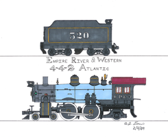 E.R. and .W. 4-4-2 No.520 by gunslinger87