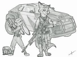[COMMISSION] Commando Wilde Hopps by Ziegelzeig