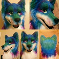 For Sale Aqua Husky/Wolf by RatTrapStudios