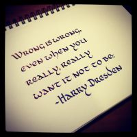 Instagram - Harry Dresden - Wrong is Wrong by MShades