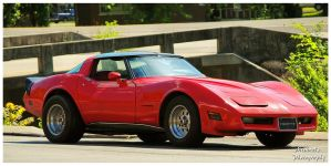 A Sharp Red Corvette by TheMan268