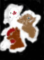 los tres lobos2  XD by sonic-in-the-rush