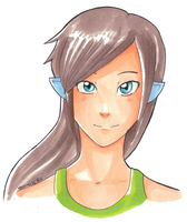 Arelle - Copic marker practice by Natomi