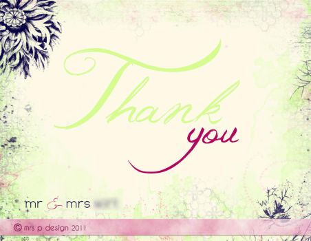 MW Thank You Cards by mrsPella