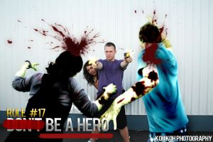 Zombieland Rule: 17 BE A HERO by kelvin-oh89