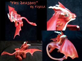 Fire Dragons - Collage by Cehualli