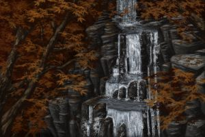 Autumn Waterfall by Sontine
