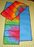 tie dye and fleece scarf by KitMcSmash