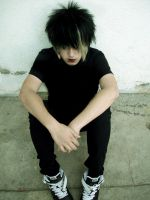emo boy by santalloniboi