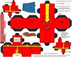 JLA 2: Red Tornado Cubee by TheFlyingDachshund