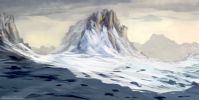 Snowy Mountains by ehecod
