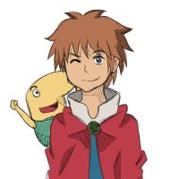 Oliver and Drippy - Ni No Kuni by Siloquin