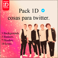 Pack 02 twitter - 1D by SuperstarElevate