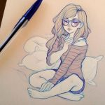 Cozy Day - Daily Drawing by Cyarin