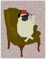 Feztive Pug by surlana