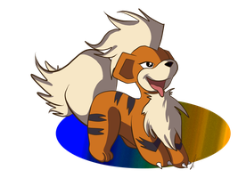 Fluffy Growlithe by jaclynonacloud