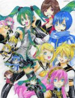 The Vocaloids by ButterflyWingies