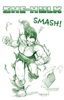 SHE-HULK SMASH! by RayDillon