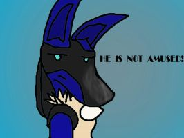 HE'S NOT AMUSED by Affy-Wolf