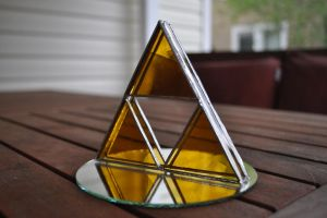 3D Glass Triforce by joemakesglass