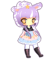 Sample: Flat Chibi by le-pink-piglet