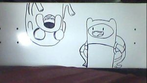 Finn and Jake Board art by rastahatt101