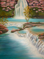 waterfall by KRSdeviations