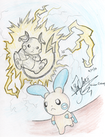 Raichu Used Thunderbolt by vivianchhay